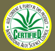 Certified by International Aloe Science Council